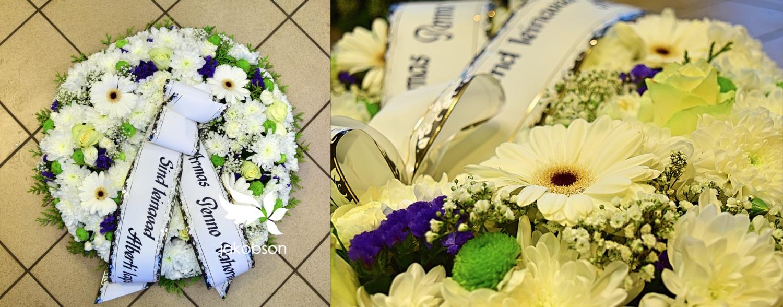 matusepärg - Matusepärg täislilledest
