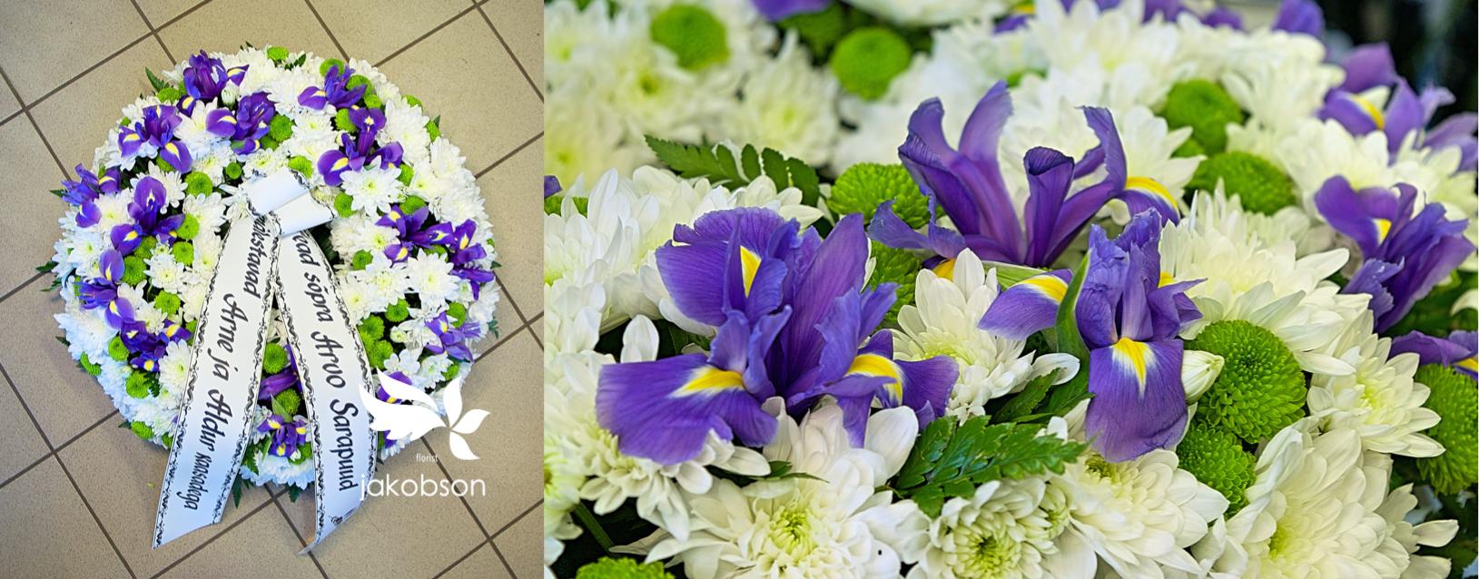 Похоронные венки в Хаапсалу 1 - Полный цветов венок.